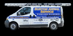 Burton Aerial Services Van